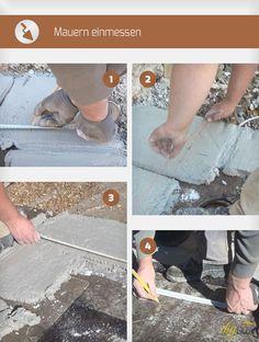 Mauern einmessen geht jedem Mauerbau voran. Denn so läuft alles nach Bauplan. Die Anleitung zeigt, wie Mauern Einmessen funktioniert und was es zu beachten gilt.