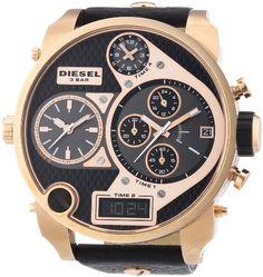 Diesel – DZ7261 – Montre Homme – Quartz Chronographe – Chronomètre/ Aiguilles lumineuses – Bracelet Cuir Noir | Your #1 Source for Watches a...