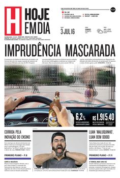 Capa do dia 03/07/2016 #HojeEmDia #Jornal #Notícias #News #Newspaper