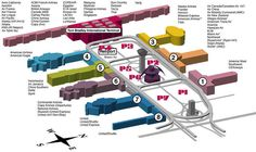 lax airport floor plan - Google Search