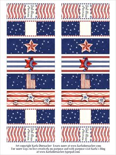 4th of July Candy Wrappers