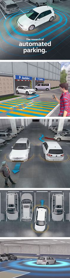 Will cars soon be able to park without us? Will e-vehicles be able to find a charging station on their own? Volkswagen has been working with five international partners to research automated parking as part of the V-Charge project. This Volkswagen Magazine article gives a quick glance at the main advantages.