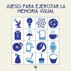 Juego para ejercitar la memoria visual #gimnasiamental #ejercicioparalamemoria