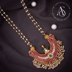 Indian Wedding Jewelry, Bridal Jewelry, Beaded Jewelry, Gold Jewelry, Pearl Jewelry, Pearl Necklace Designs, Gold Earrings Designs, Antique Jewellery Designs, Gold Jewellery Design