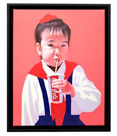 "Sun Mu: ""Cola-drinking Child"" canvas print - from $45"