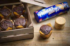 Muffins de chocolate con galletas Principe®