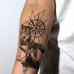Lone Wolf Tattoo, Wolf Tattoo Sleeve, Best Sleeve Tattoos, Wolf Tattoos For Women, Arm Tattoos For Guys, Fake Tattoos, Tattoo Set, Tattoo Life, Feather Tattoo For Men