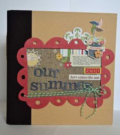 SN@P! Album created by design team member Guiseppa Gubler, using the brown SN@P! binder and our Summer Fresh collection