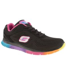 Skechers Black & pink Flex Appeal Style Trainers