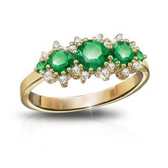 Royal Radiance Emerald & Diamond Ring by The Bradford Exchange