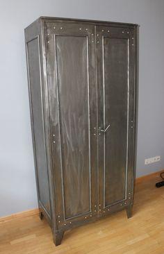 Perfect Industriedesign Vintage Spind Stahlschrank Metallschrank f r B ro oder WZ in in Koblenz