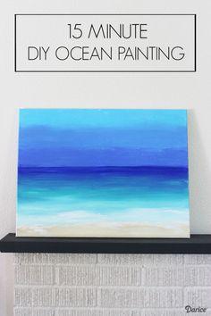 DIY Painting: 15 Minute Ocean Scene - Darice