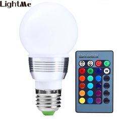 LightMe 3W RGB LED Bulb Lamp Decoration Dimmable Colorful LED Spotlight Remote Control Holiday Festival Light Indoor Lighting