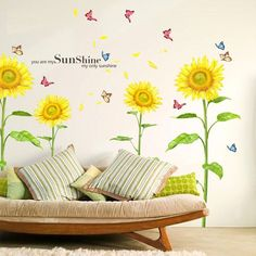 Sunflowers In The Sunshine Wall Decal