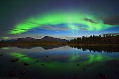 Nikkaluokta (Lappland, Schweden) - Polarlicht