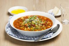 Italiensk grønnsaksuppe. Varmer ekstra godt på kalde dager.