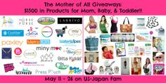 #MotherOfGiveaways - $1500 in amazing products for mom, baby, and toddler, split between 2 winners!! Enter to #win today (ends May 26)!! Featuring @Melanie Wade Purse, @Coolibar Sun Protection You Wear Sun Protection You Wear, @Ruth Nagele' Cub Hub, @Debbie Roberts Light, @WaterWipes USA, @M Hartman, @Tabitha Moore Kidda, @Heather Creswell Tomoyasu, @JetSetBabies, @Erik Yesayan Designs, @Helen Davidson Butz Diaper Rash Cream, @D R. Carey's Baby Care, @Nancy Horn - TheMamaMaven.com…