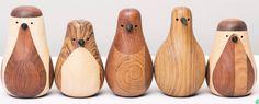 Wooden birdies