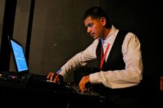 Our DJ, Freddy Jimenez, at the DFFLA Awards Party. — at The Hayworth Theater Mainstage.