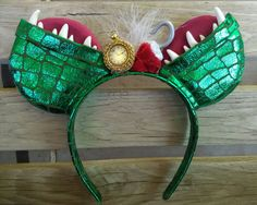 LIGHT UP Captain Hook/Crocodile Tick Tock Inspired Mouse Ears with light up…