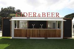 Custom container bar, O'week Sydney. Brand activations and concept design- maake.com.au 20ft Container, Container Shop, Shipping Container Restaurant, Shipping Containers, Building Design, Building A House, Wine Tasting Room, Hot Dog Stand, Outdoor Cafe