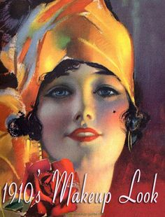 A beautiful painting by Rolf Armstrong from 1917, very much heralding the look of the flapper that was to come in the 1920s. The use of makeup was rare among even society women until the mid to late 1920s, as it was considered a practice of girls with loose morals! But the application of rouge over a well powdered face was common enough by the late 1910s and early 1920s.