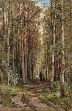 Forest Landscape Museum Quality hand-painted oil painting reproductions on artclon. Forest Landscape, Landscape Art, Landscape Paintings, Russian Painting, Russian Art, Wild North, Russian Landscape, Walk In The Woods, Fine Art