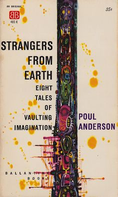 Strangers from Earth, art by Richard M. Powers, book cover