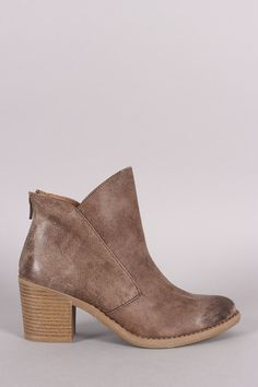 d38f2a23562 Qupid Asymmetrical Collar Chunky Heel Western Cowgirl Booties – Style  Lavish Ankle Boots