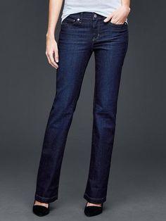 Gap Womens Authentic 1969 Long & Lean Jeans Dark Wash