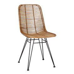 Chaise en rotin naturel ou noir et métal (par 2) Studio Hübsch 500 €