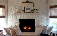 Perfect Paint Stone Fireplace Designs