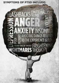 It's like the weight of the world...PTSD symptoms. www.OrlandoTherapyProject.com