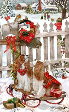 Cavalier - Christmas Delivery -  by Margaret Sweeney