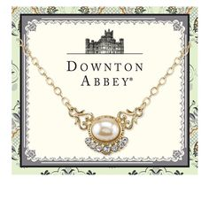 Downton Abbey® Gold-Tone Simulated Pearl and Crystal Necklace