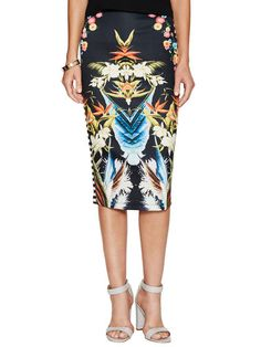 Printed Pencil Skirt by YASB at Gilt