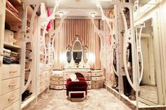 What a wardrobe! Want the mirror table.