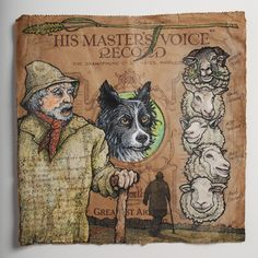 'His master's voice' by Jonny Dixon His Masters Voice, The Voice, Fairy Tales, Moose Art, Label, Sketches, Illustrations, Artwork, Animals