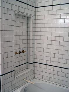 Image result for subway tile black white