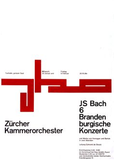 poster for the Zürich chamber orchestra by Gottlieb Soland (1956)