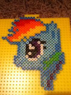 RainbowDash Mlp perler beads