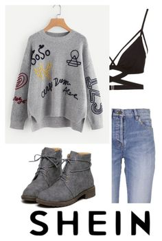 """""""SheIn: Sweater"""" by kacenka-1 on Polyvore featuring Cosabella and Yves Saint Laurent"""