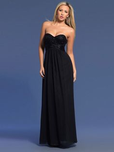 Elegante Abendkleider A-Linie Chiffon Schwarz mit Herz-Ausschnitt