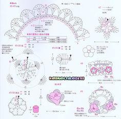 Вязание крючком резинки для волос. Схемы (3)