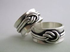 Sterling silver double knot ring by TheresaPytell on Etsy, $128.00