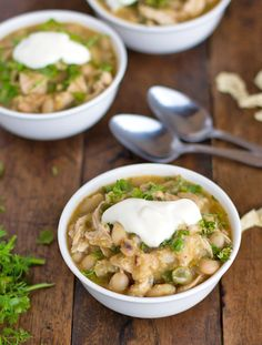 White Chicken Chili...delicious and healthy, too!