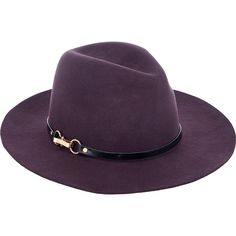 Monsoon Felt Fedora Buckle Trim Hat (690 ZAR) ❤ liked on Polyvore featuring  accessories ea2089ed05d1