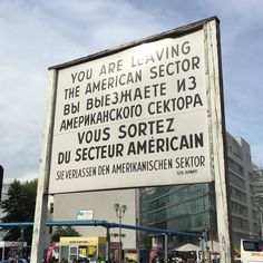 A reconstructed Checkpoint Charlie gives a small but lingering sense of #Berlin's divided past by anchoredandadrift