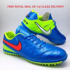 2e5ee8b22 FREE UK DELIVERY Nike ACC mens Tiempo V Astro Turf Soccer Trainers. RARE  SAMPLE PAIR Size UK 7.5 Int