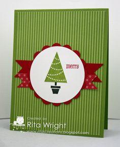 Rita's Creations: Pennant Parade Simple Christmas.  Stampin' Up!
